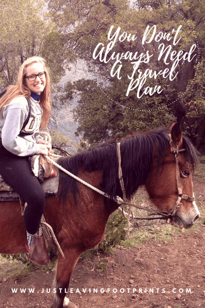 Riding a horse through the Andes