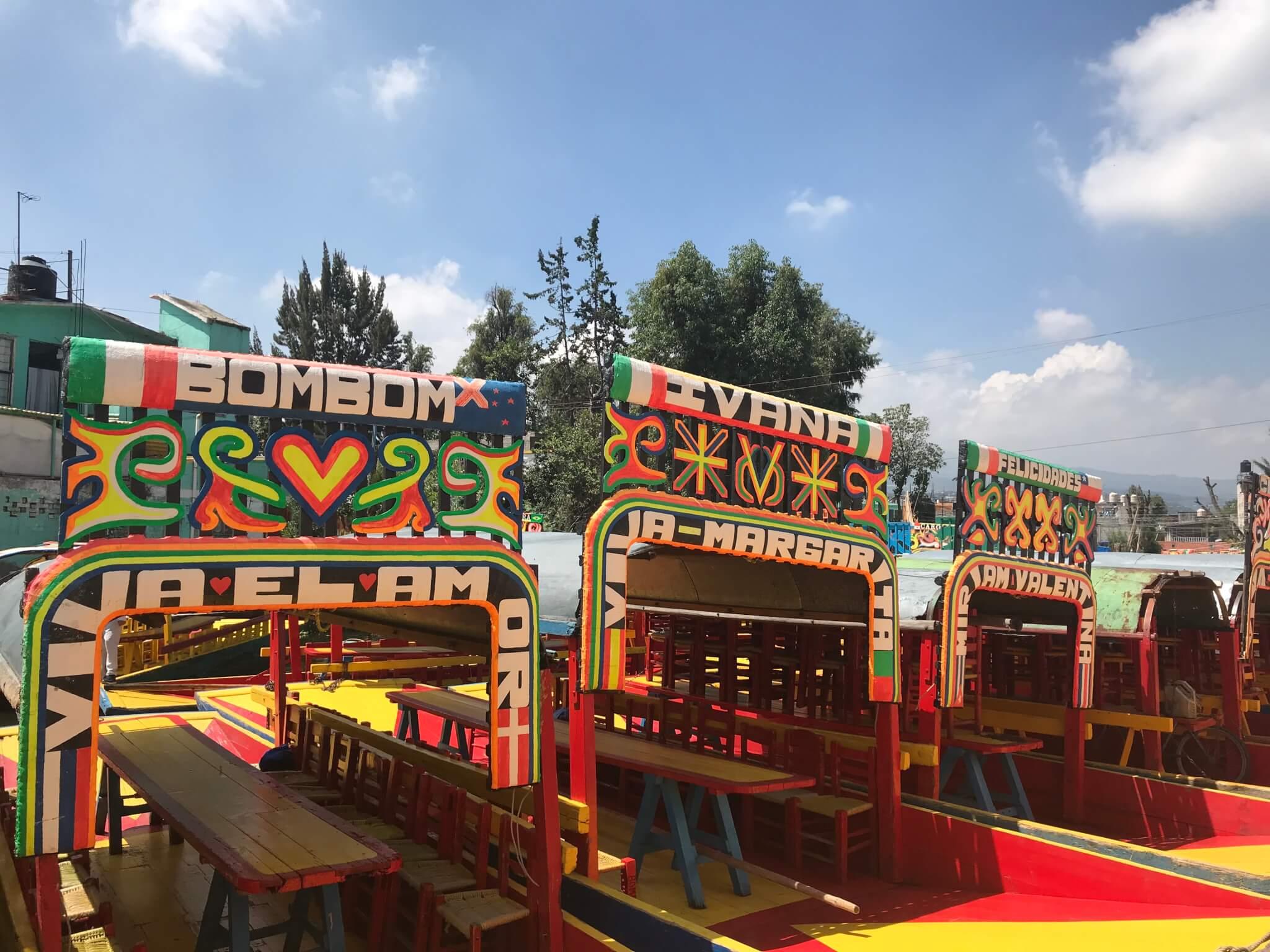 Trajineras in Xochimilco | Mexico City