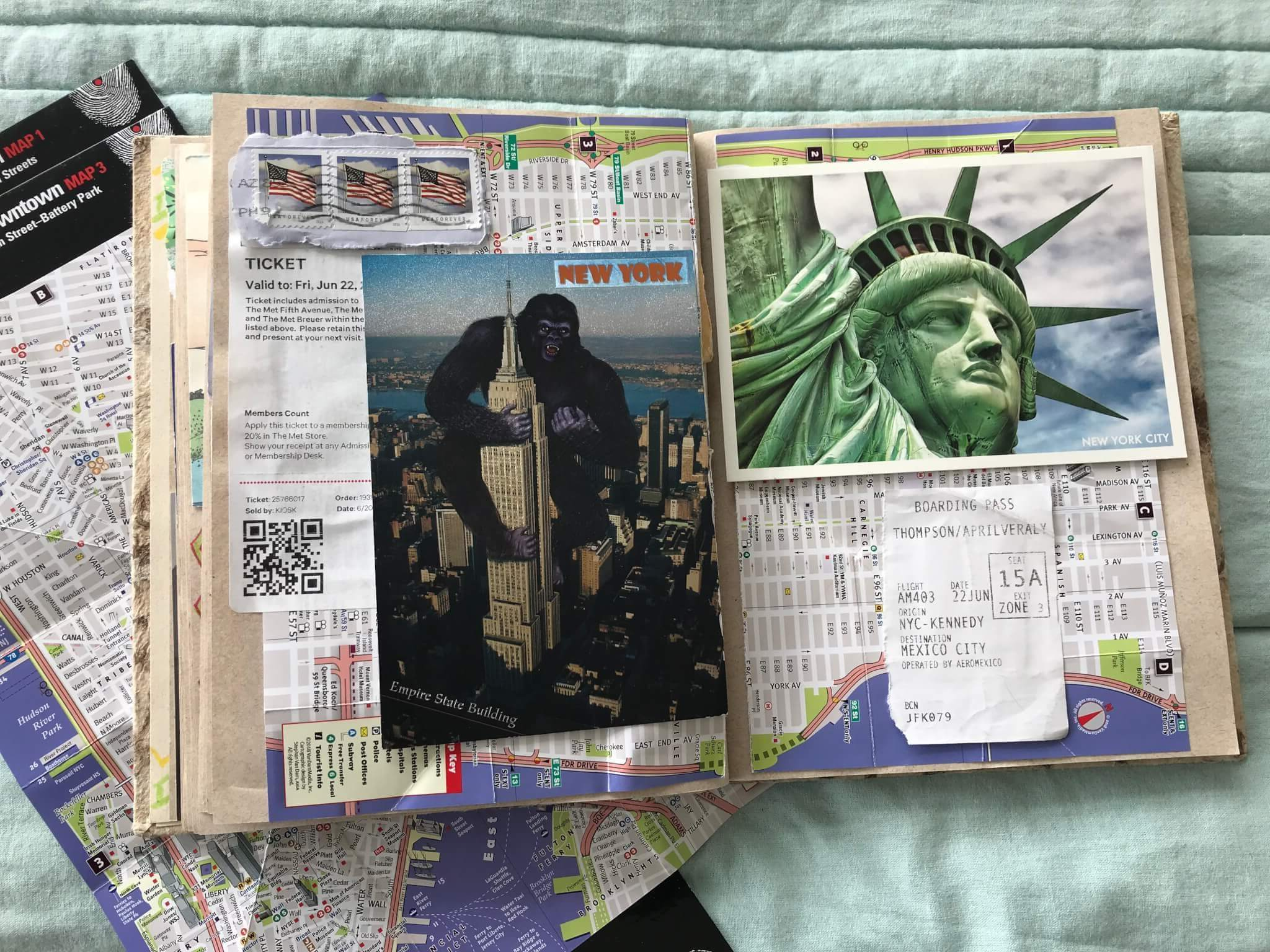 Travel Journal Ideas | Maps in a Journal