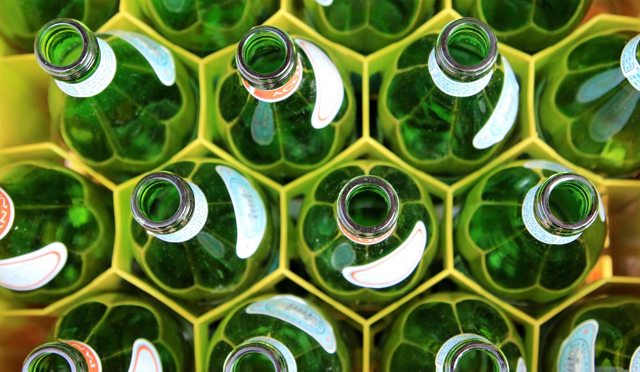 Green bottles   Reduce Your Ecological Footprint