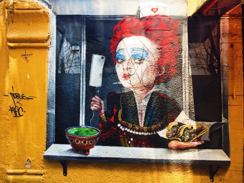 Street Art in La Romita | Queen of Hearts