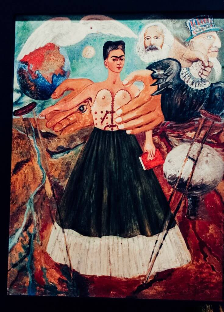 Visiting the Frida Kahlo Museum in Coyoacán, Mexico City | Frida Kahlo Painting