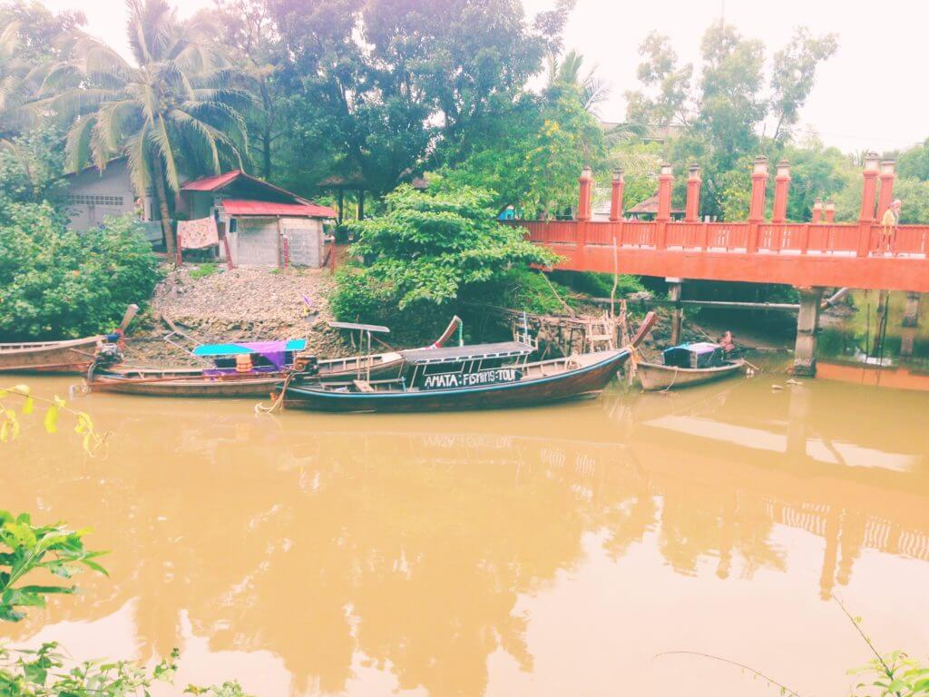 Moored Boats on a River in Thailand | Go to Thailand