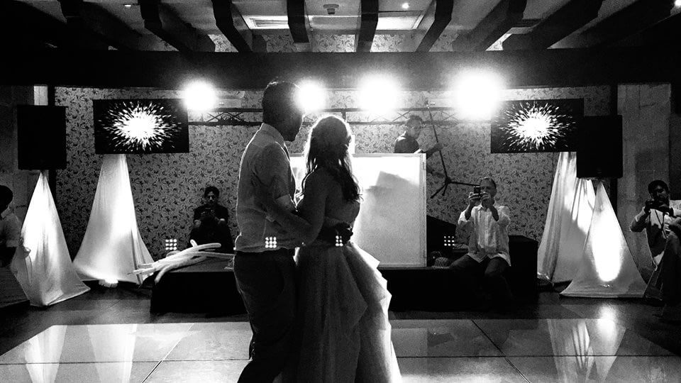 First Dance Photo Black and White