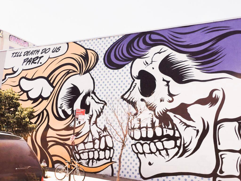 Skeleton Street Art Bushwick