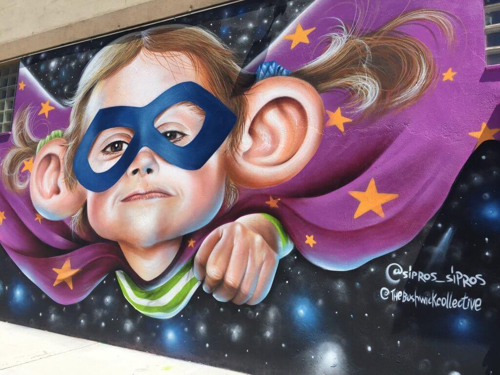 Bushwick Street Art   Superhero baby