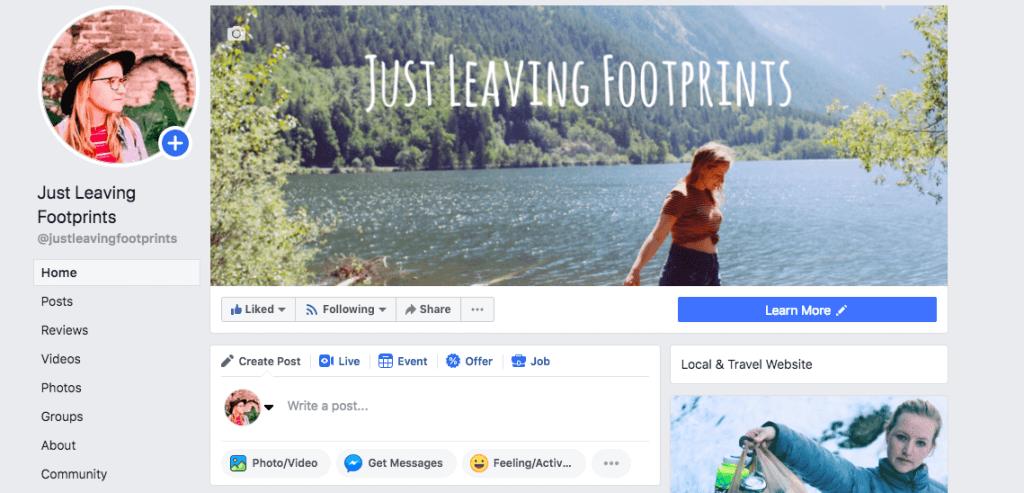 Grow Blog Traffic | Just Leaving Footprints Facebook Page