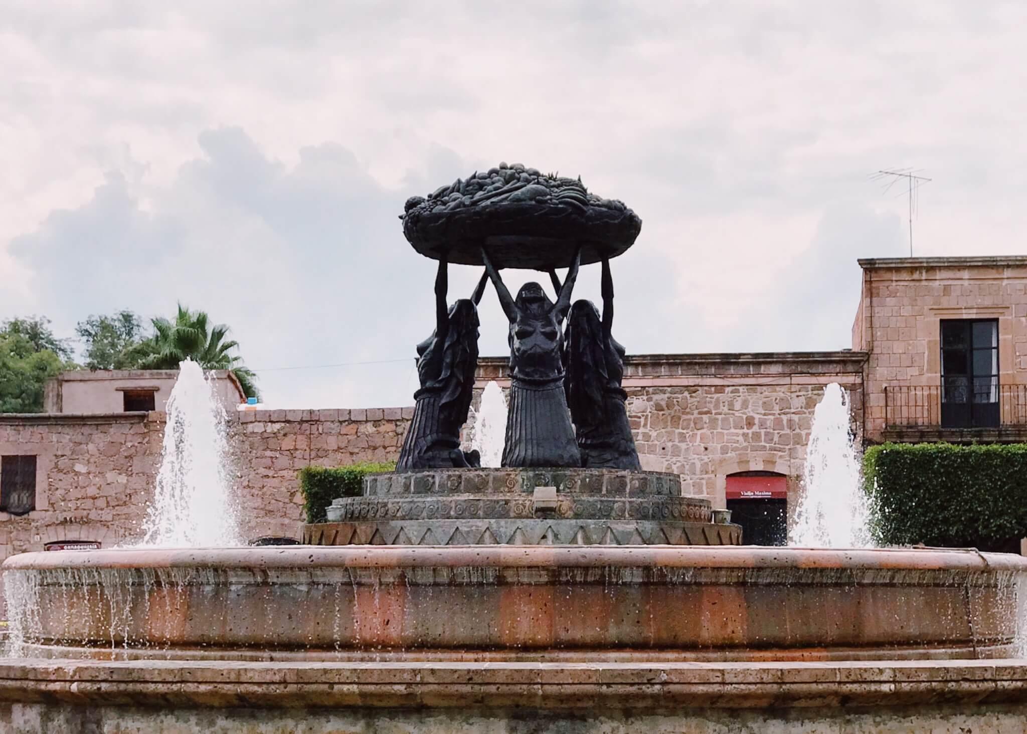 Tarascas Fountain in Morelia | Visit Michoacán