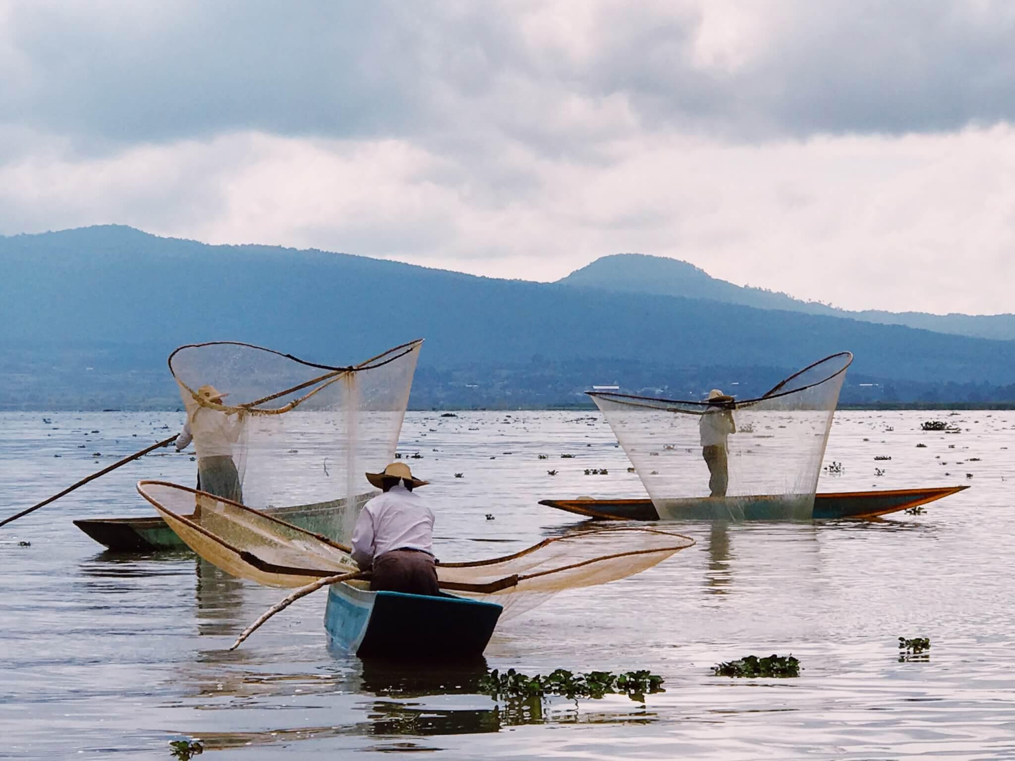 Visit Michoacán | Fishermen on Pátzcuaro Lake
