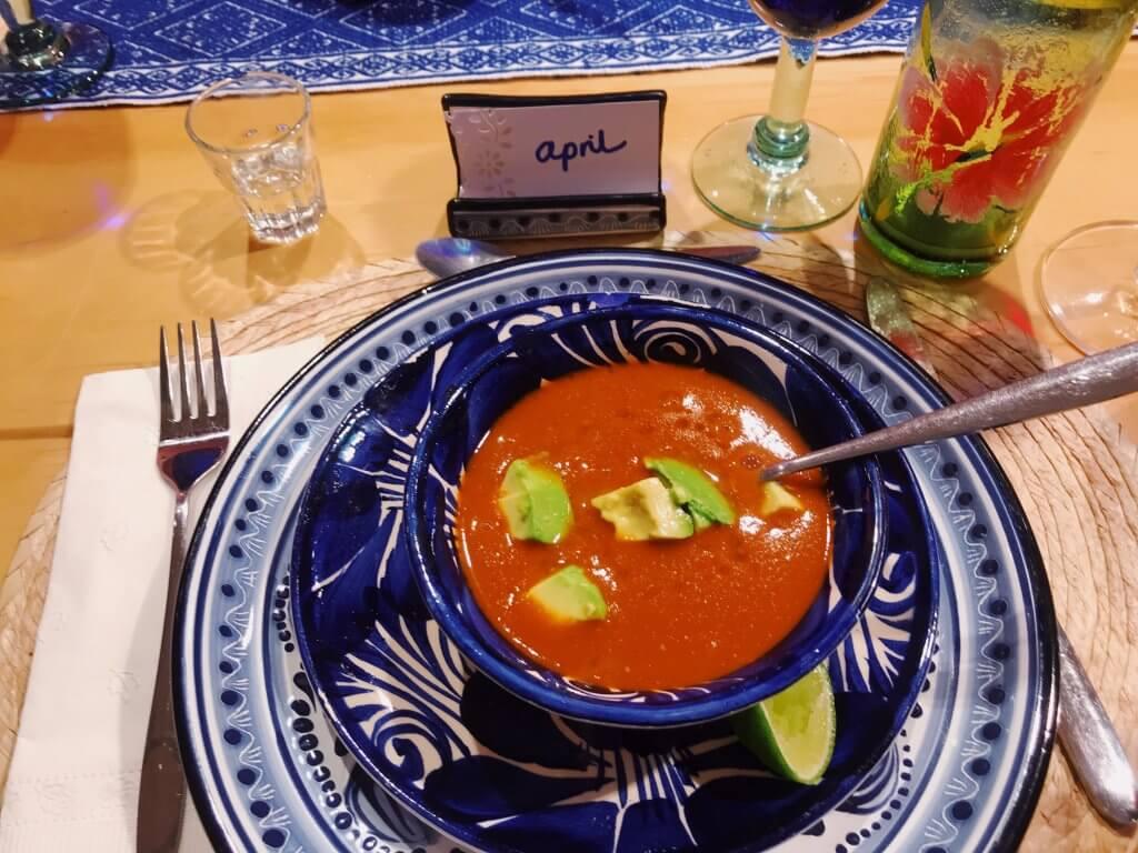 Vegan Tortilla Soup | Mexican Vegan Cooking Class in Mexico City